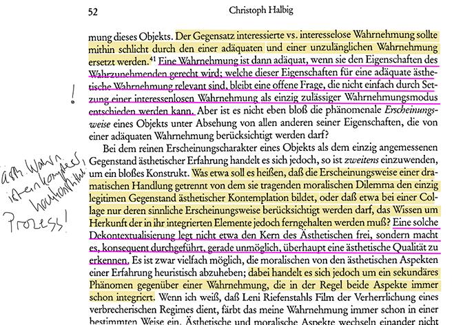 Halbig - bearbeitete Textseite